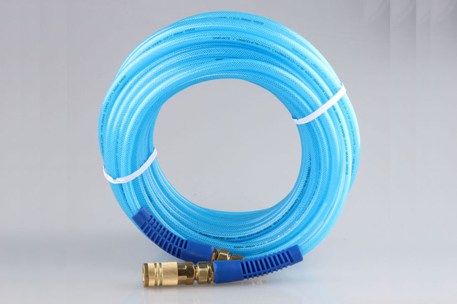 PU BRAIDED HOSE WITH USA M STYLE 4 INDUSTRIAL COUPLING